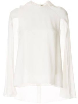 Cut-out Sleeve Hooded Blouse - Azzi & Osta