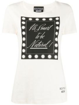 Its Smart To Be Natural T-shirt - Boutique Moschino