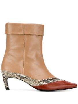 Contrast Ankle Boots - Salondeju
