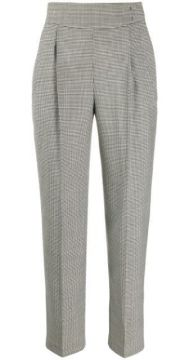 Micro Houndstooth High-waisted Trousers - Msgm