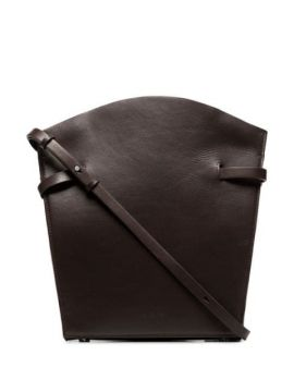 Midi Satchel Leather Shoulder Bag - Aesther Ekme