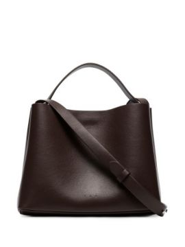 Brown Mini Sac Leather Shoulder Bag - Aesther Ekme
