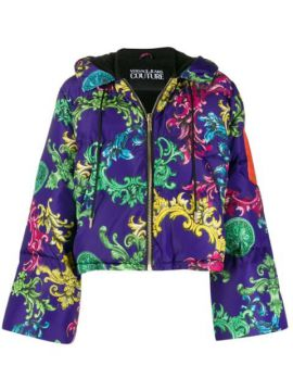 Baroque Print Puffer Jacket - Versace Jeans Couture