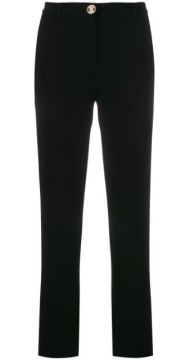 Skinny Fit Crop Trousers - Boutique Moschino