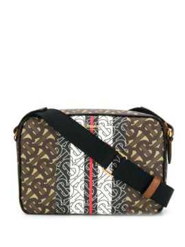 Monogram Stripe Shoulder Bag - Burberry