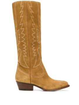 Embroidered Knee-length Boots - Buttero