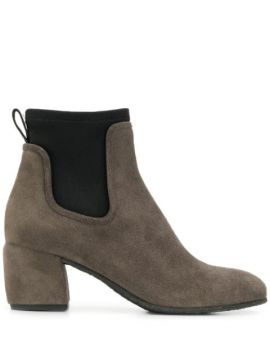 Contrast Ankle Boots - Del Carlo