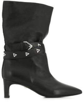 Buckle Detail Boots - Grey Mer
