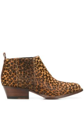 Ankle Boot Animal Print Com Salto - Buttero