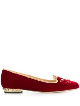 Kitty Ballerina Shoes - Charlotte Olympia