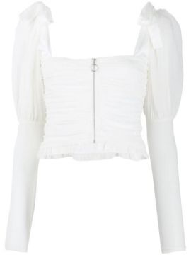 Prince Ruffled-hem Cropped Blouse - For Love And Lemons