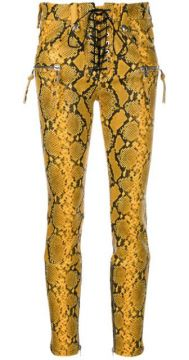 Snake Print Skinny Trousers - Unravel Project