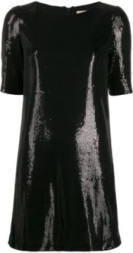 Sequin Embroidered Mini Dress - Blanca