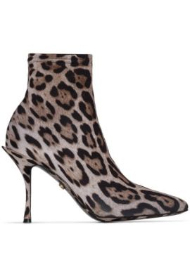 Ankle Boot Meia Animal Print - Dolce & Gabbana