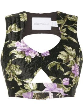 Wild Flowers Cropped Top - Alice Mccall
