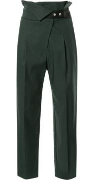 Cropped High Waisted Trousers - Frei Ea