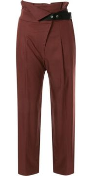 High Waisted Cropped Trousers - Frei Ea