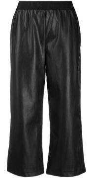 Faux-leather Cropped Trousers - Dkny