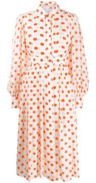 Pleated Polka Dot Shirt Dress - Emilia Wickstead