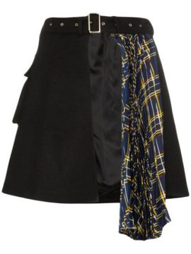 Asymmetric Pleated Skirt - Blindness