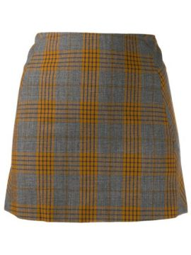 Fitted Plaid Mini Skirt - Charlotte Knowles