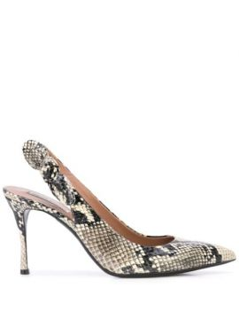 Millie Snakeskin-effect Pumps - Tabitha Simmons