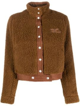Cropped Shearling Jacket - Courrèges
