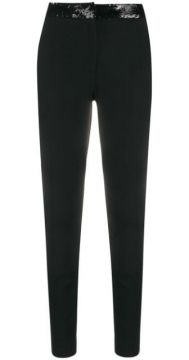 Sequin Embellished Slim-fit Trousers - Frankie Morello