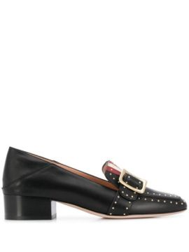 Janelle Buckle Detail Loafers - Bally