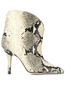Ankle Boot Com Estampa Pele De Cobra - Paris Texas