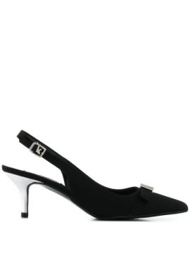 Matte Sling-back Pumps - Karl Lagerfeld