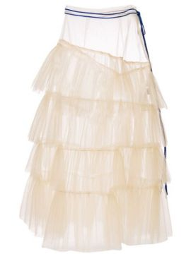Sheer Tulle Tiered Skirt - Enföld