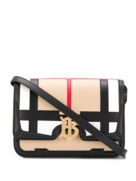Tb Check Crossbody Bag - Burberry