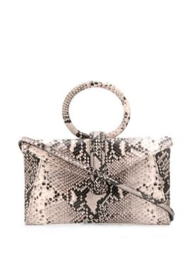 Snakeskin Print Top Handle Bag - Complét