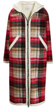 Teddy Hooded Tartan Coat - Forte Dei Marmi Couture