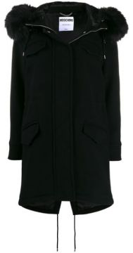 Faux-fur Hooded Coat - Moschino