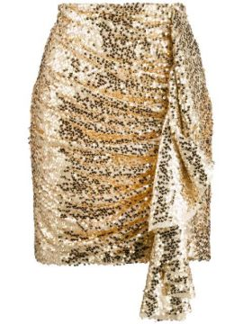 Ruched Sequin Skirt - In The Mood For Love
