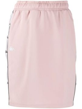Logo Lined Fitted Skirt - Kappa