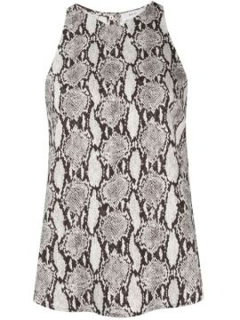 Anise Crepe Snakeskin Top - A.l.c.
