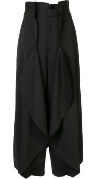 Draped Wide Leg Trousers - Enföld
