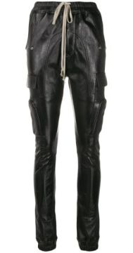 Stitched Panel Tapered Trousers - Rick Owens