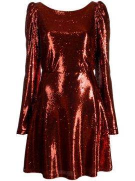 Camila Trilly Sequined Dress - Black Coral