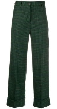 Cropped Checked Trousers - Brag-wette