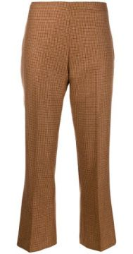 Houndstooth Cropped Trousers - Berwich