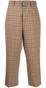 Check Cropped Trousers - Berwich