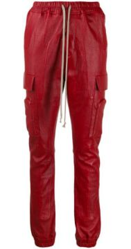 Larry Leather Cargo Trousers - Rick Owens