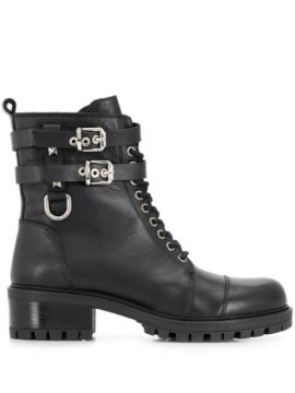 Side Buckle Boots - Albano