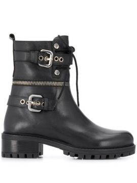 Buckle Detail Boots - Albano