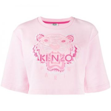 Embroidered Tiger Cropped Sweatshirt - Kenzo