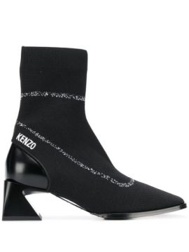 Logo-embroidered Sock Boots - Kenzo